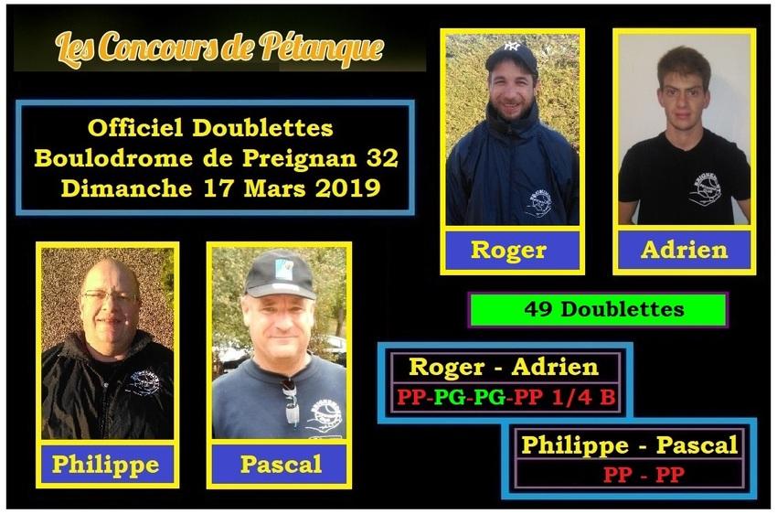 Officiel Doublette à Preignan -32-.