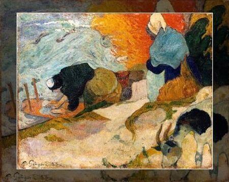 les_lavandieres_de_paul_Gauguin
