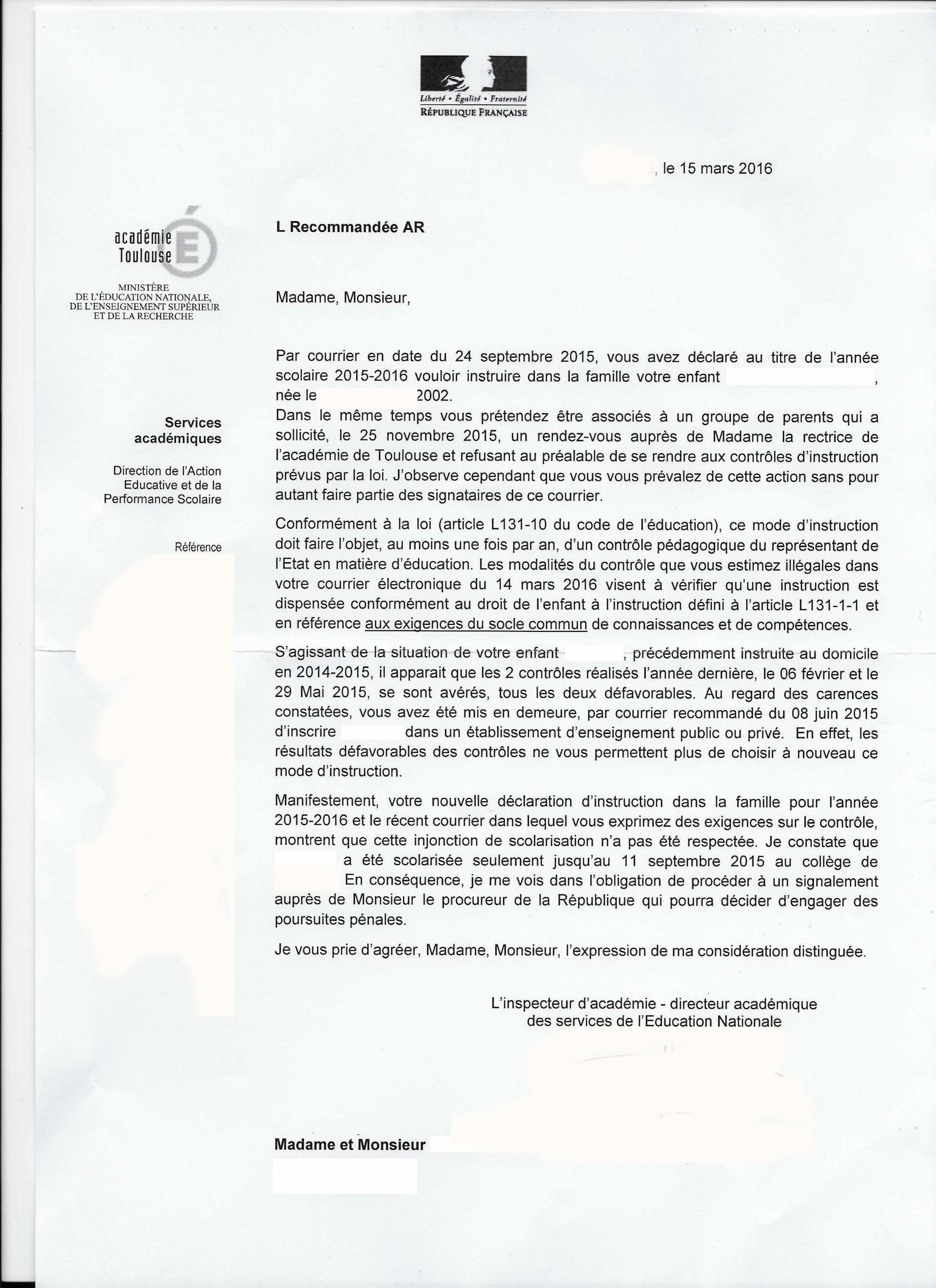 Pdf Signalement Au Procureur De La Republique