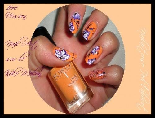 Nail art sur le Kiko Melon
