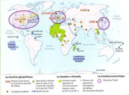 La France dans l'U.E et dans le monde
