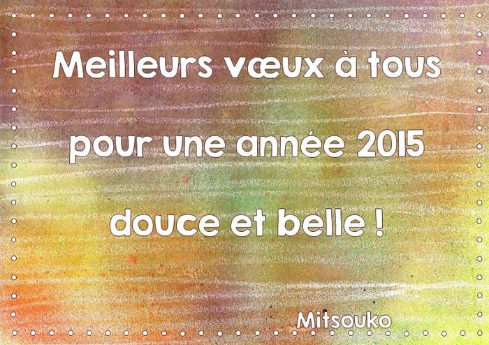Voeux 2015 !