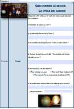 "Questionnaires modifiables ""le cycle des saisons"""