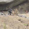 Bénin Concassage de pierres à la main
