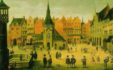Grand'Place de Lille à la fin XVIIe s.