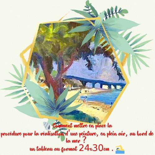3298 : Comment peindre les souvenirs de vacances au bord de la mer ? - acrylique ou huile.