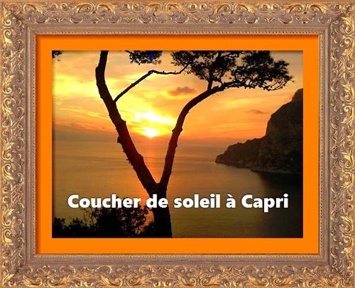 Dessin et peinture - vidéo 2672 : Coucher de soleil en Italie (Tragara à Capri) 1/3. - acrylique ou huile .