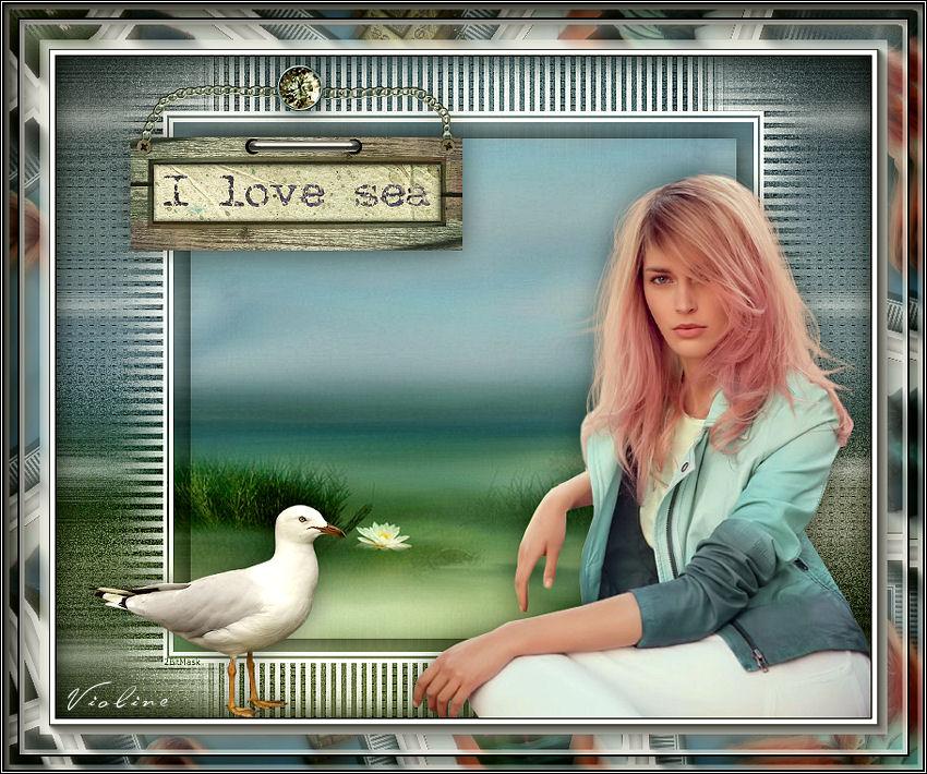 Cadre n° 10 - I love sea