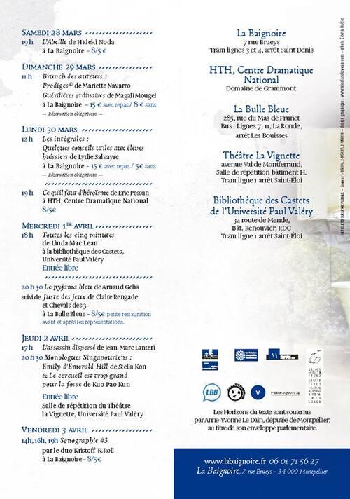 La semaine prochaine à la Baignoire (Montpellier)