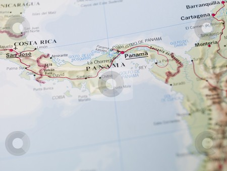 1-cutcaster-photo-100891199-Map-of-Panama-in-central-Americ