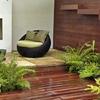 meubles dans petit jardin