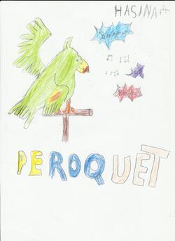 """Coloriages et dessins : le perroquet des """"Animots Rigolos"""" - les Sons Voyelles"""