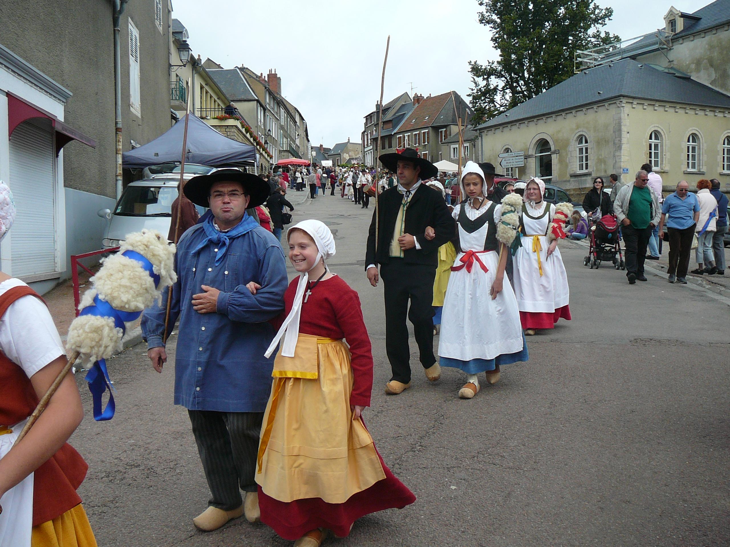 Festival folklorique de Château-Chinon le 14 juillet 2012