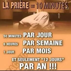 La prière = 10 minutes