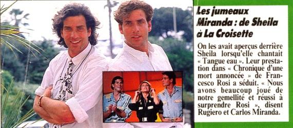 CARLOS & ROGIERO MIRANDA... Sans Sheila