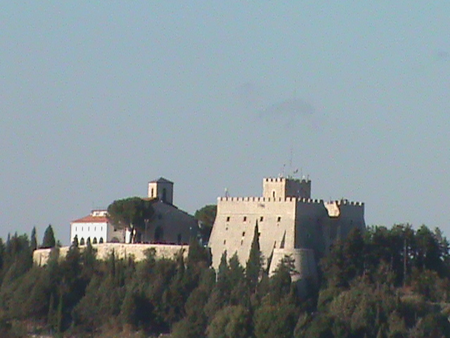 Castello Monforte e città di Campobasso (Molise Italy)