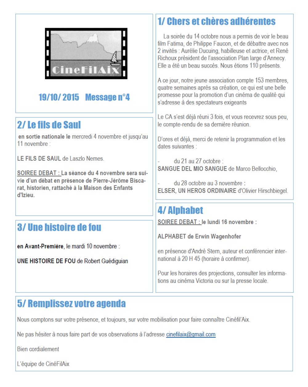 message N ° 4 CinéFilAix