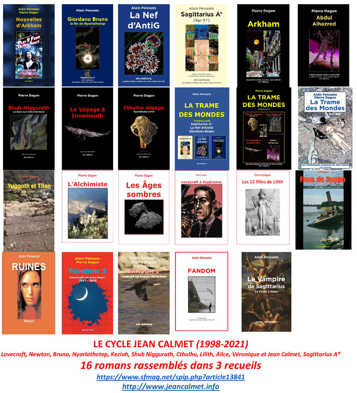 16 romans lovecraftiens et 3 recueils