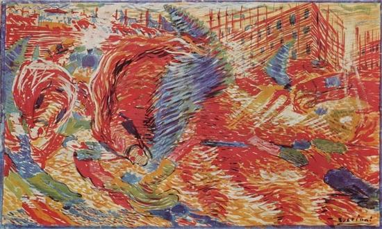 Umberto Boccioni, La ville se lève, 1910