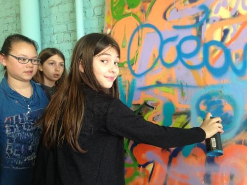 [6B] Cours de morale : Atelier créatif : Graffitti (2ème partie)