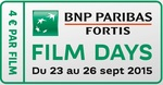 Logo BNP Paribas Fortis FILM DAYS