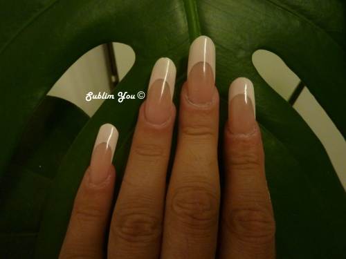 Gel French ultra white Morgana Nail's
