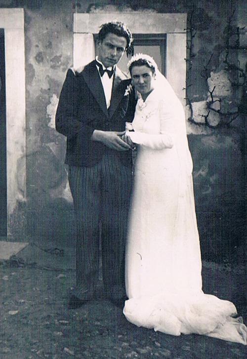 Mariage de mes parents à Eperrais