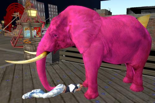 Gros Éléphant Rose
