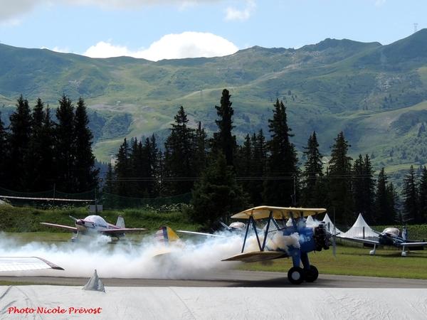 Le meeting aérien de Méribel, vu par Nicole Prévost...