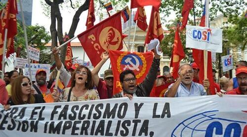 Le PC du Venezuela dans les manifestations de masse contre le danger de coup d'Etat et pour défendre les acquis de la révolution bolivarienne (solidinter 21/04/2017)