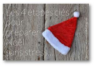 ✿ Les 4 étapes clés pour préparer Noël sans stress.