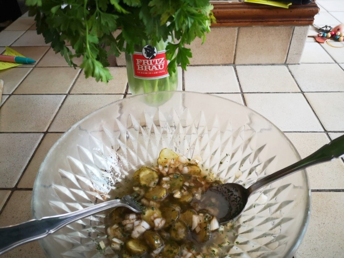 Salade de pommes de terre de mamama.