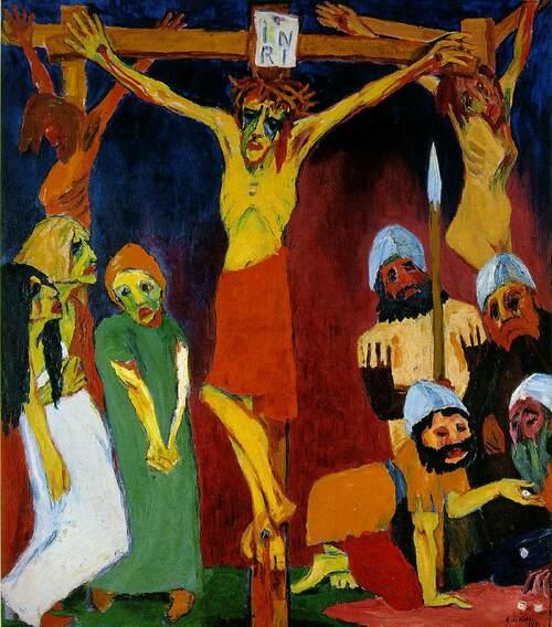 Emil Nolde, Crucifiction, 1912. Huile sur toile.
