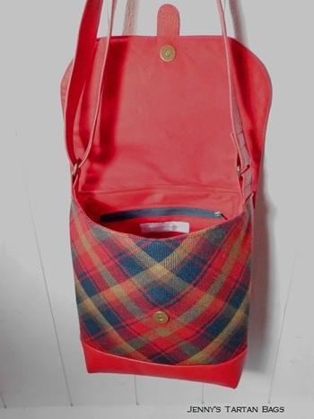 Sac bandoulière / Messenger bag Maple Leaf Tartan