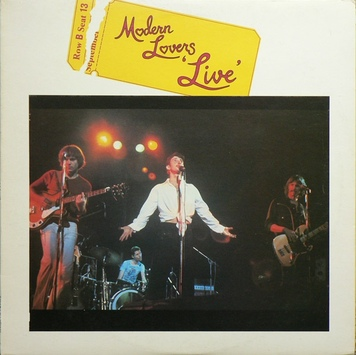 Mémoire de vinyl - Moderns Lovers Live (1977)
