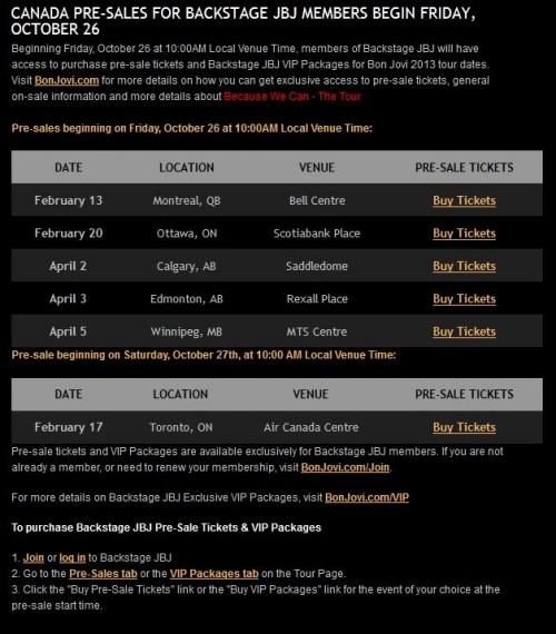 bonjovi annonce officiel pour le tour 2013 les dates sont là
