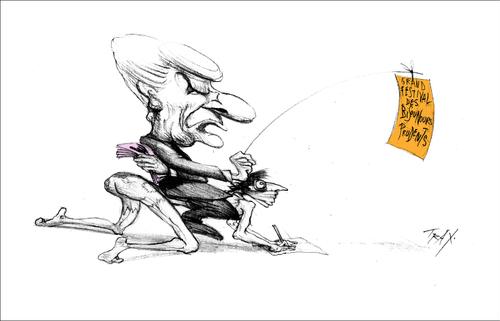 M. Chapon, maire UDI d'Uzès festival de dessins de presse