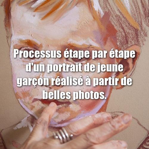 Dessin et peinture - vidéo 3392 : Comment peindre un portrait de jeune fille ou de jeune garçon ? - pastels tendres.