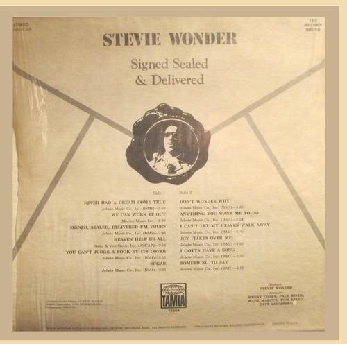 """Stevie Wonder : Album """" Signed Sealed & Delivered """" Tamla Records TS 304 [US]"""