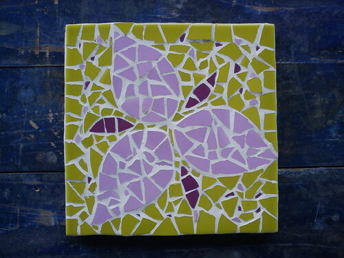 - Créations en patchwork sur carton et mosaïque