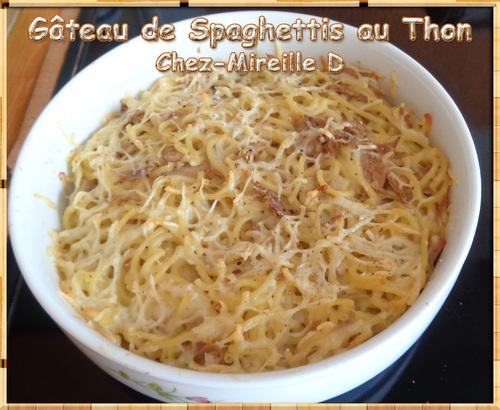 Gâteau de Spaghettis au Thon