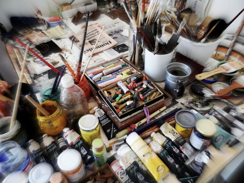 Dans son atelier...
