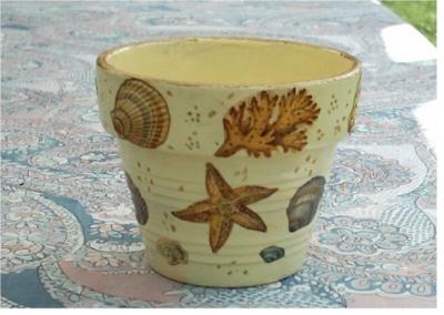 Blog de charlottopoire :Charlottopoire... mes petites créas..., Pot coquillage