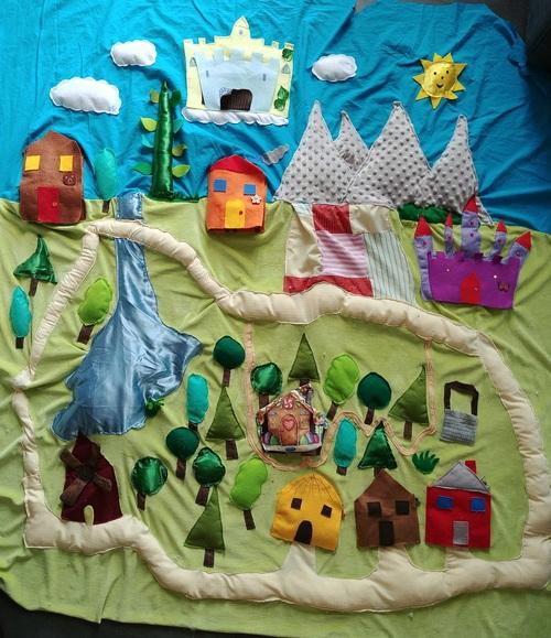Mon tapis à conter : La forêt des contes