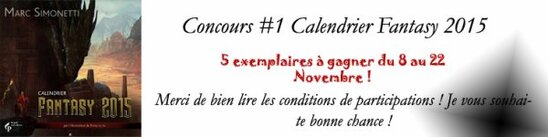 "CONCOURS #1 "" Calendrier Fantasy 2015 """