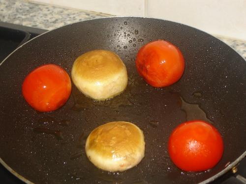 Steaks de pommes de terre/Spaghettis de légumes