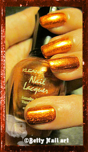 NA sur Metallic orange Kleancolor
