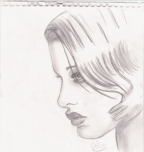 Femme fatale ze grabouilleuse - Dessin de profil ...