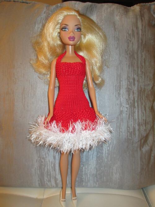 Tenue de noel pour barbie