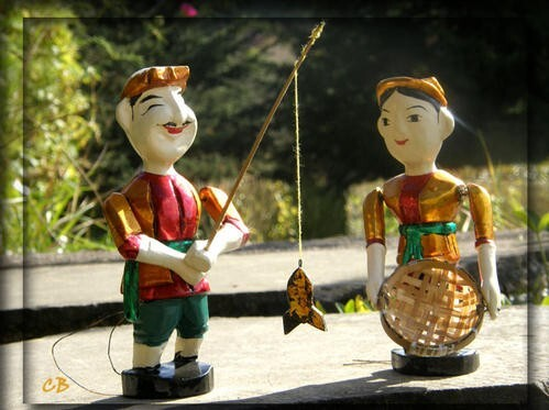 Vietnam - marionnettes sur l'eau